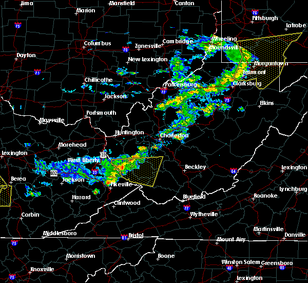 Radar Image for Severe Thunderstorms near Williamson, WV at 7/9/2015 1:50 PM EDT