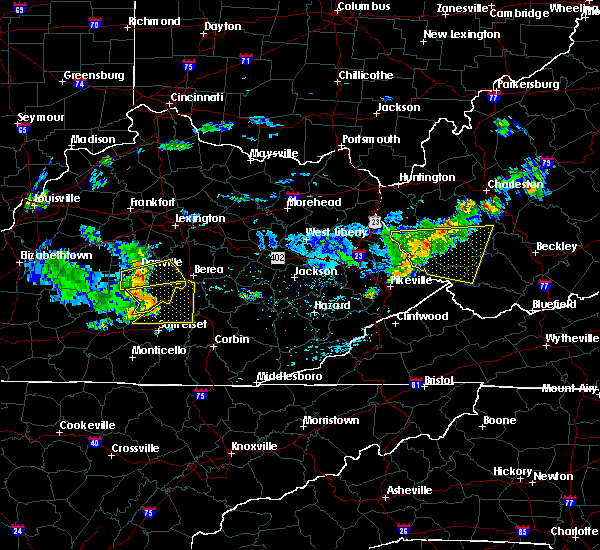Radar Image for Severe Thunderstorms near Eubank, KY at 7/9/2015 1:59 PM EDT