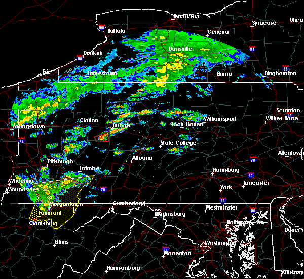 Radar Image for Severe Thunderstorms near Rossiter, PA at 7/9/2015 1:58 PM EDT