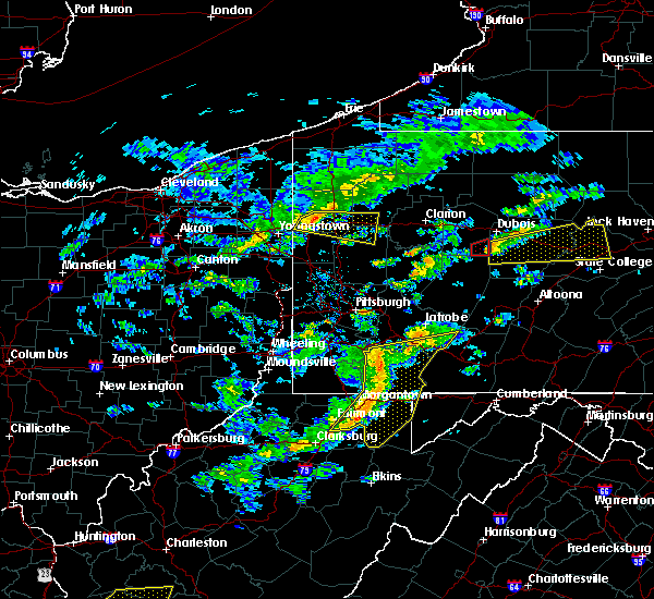 Radar Image for Severe Thunderstorms near Westover, WV at 7/9/2015 2:10 PM EDT