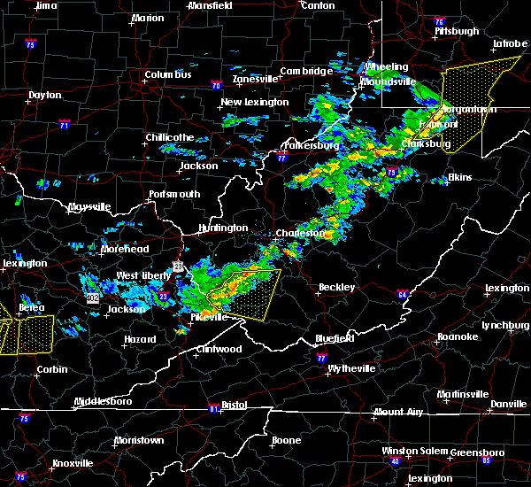 Radar Image for Severe Thunderstorms near Williamson, WV at 7/9/2015 2:11 PM EDT