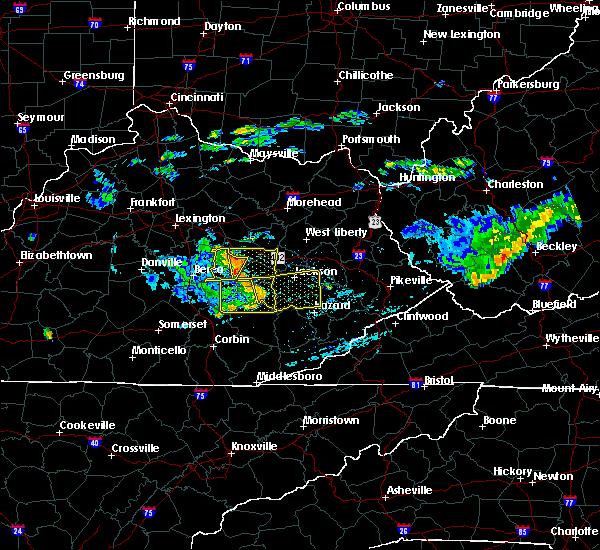 Radar Image for Severe Thunderstorms near Booneville, KY at 7/9/2015 2:56 PM EDT