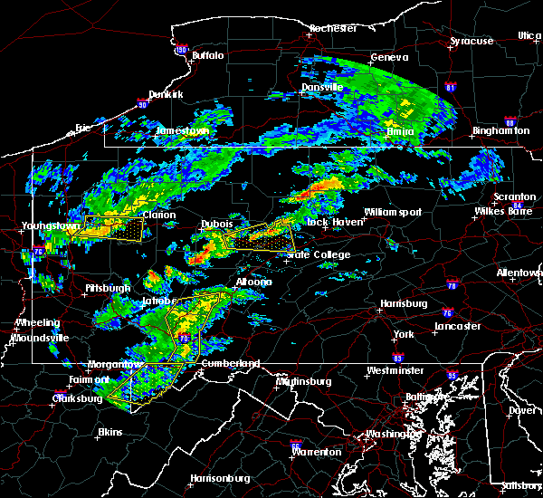 Radar Image for Severe Thunderstorms near Grassflat, PA at 7/9/2015 3:09 PM EDT