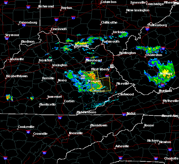Radar Image for Severe Thunderstorms near Prestonsburg, KY at 7/9/2015 3:44 PM EDT