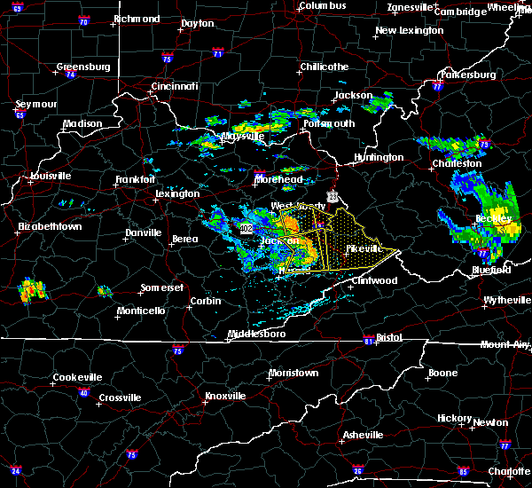 Radar Image for Severe Thunderstorms near Kermit, WV at 7/9/2015 4:00 PM EDT