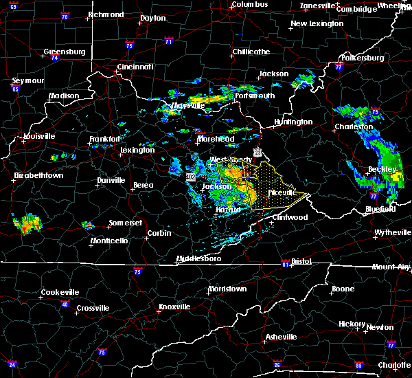 Radar Image for Severe Thunderstorms near Prestonsburg, KY at 7/9/2015 4:06 PM EDT