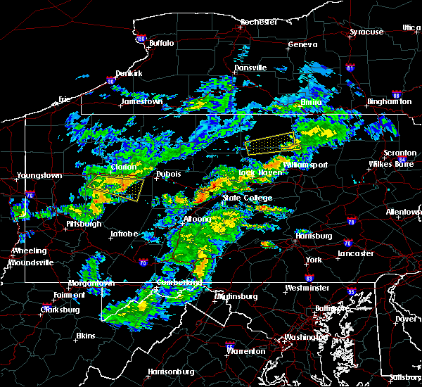 Radar Image for Severe Thunderstorms near New Bethlehem, PA at 7/9/2015 4:09 PM EDT