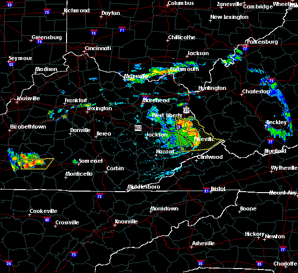 Radar Image for Severe Thunderstorms near Kermit, WV at 7/9/2015 4:21 PM EDT