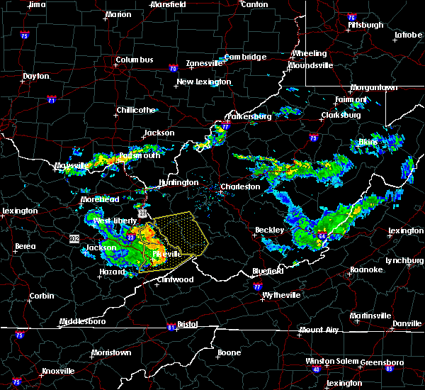 Radar Image for Severe Thunderstorms near Kermit, WV at 7/9/2015 4:28 PM EDT