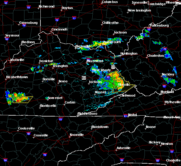 Radar Image for Severe Thunderstorms near Warfield, KY at 7/9/2015 4:29 PM EDT