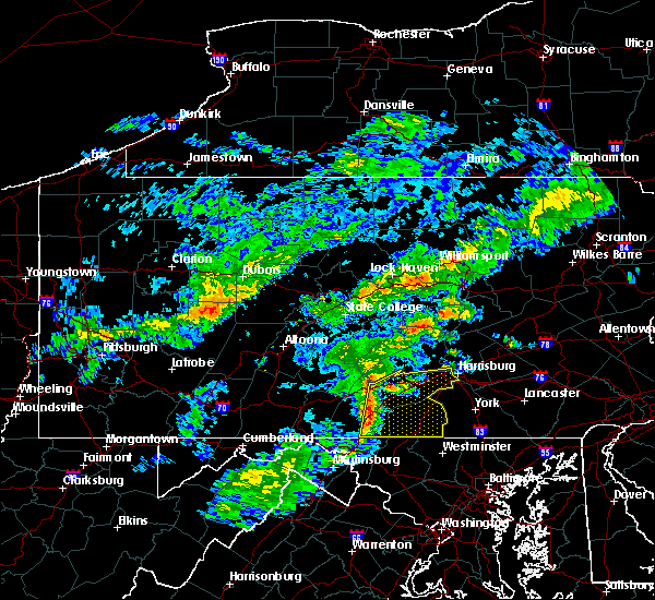 Radar Image for Severe Thunderstorms near Table Rock, PA at 7/9/2015 4:53 PM EDT