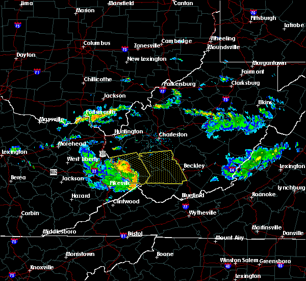 Radar Image for Severe Thunderstorms near Justice, WV at 7/9/2015 4:56 PM EDT