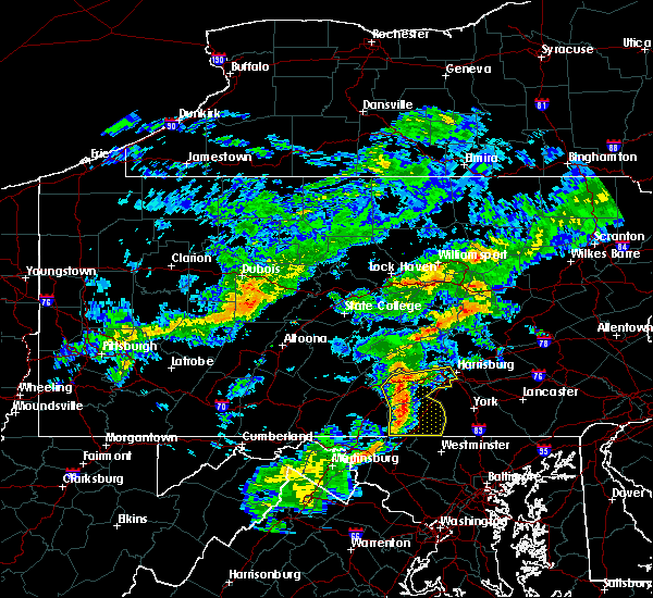 Radar Image for Severe Thunderstorms near Hanover, PA at 7/9/2015 5:07 PM EDT