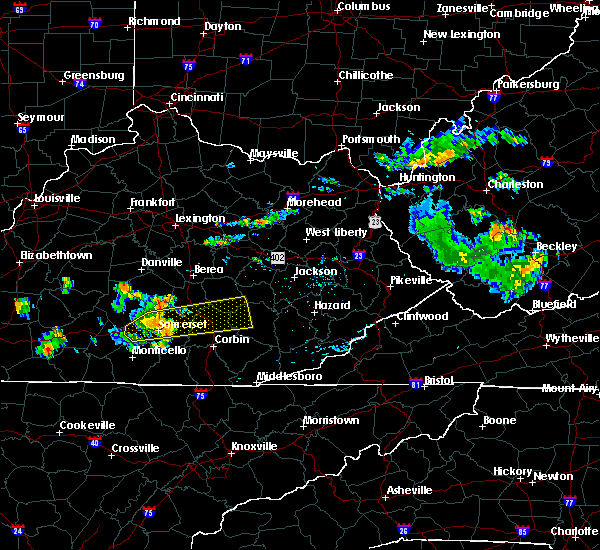 Radar Image for Severe Thunderstorms near London, KY at 7/9/2015 6:02 PM EDT