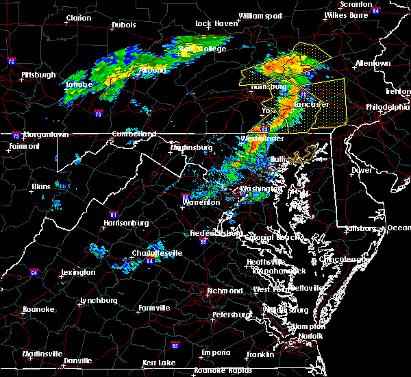 Radar Image for Severe Thunderstorms near Yorkana, PA at 7/9/2015 6:24 PM EDT