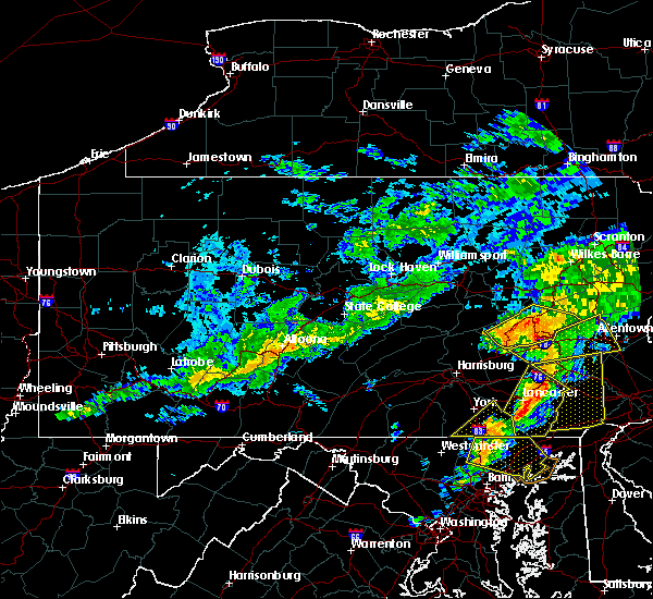 Radar Image for Severe Thunderstorms near Hometown, PA at 7/9/2015 6:41 PM EDT