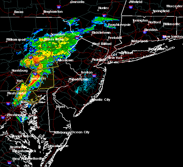 Radar Image for Severe Thunderstorms near Christiana, PA at 7/9/2015 6:44 PM EDT
