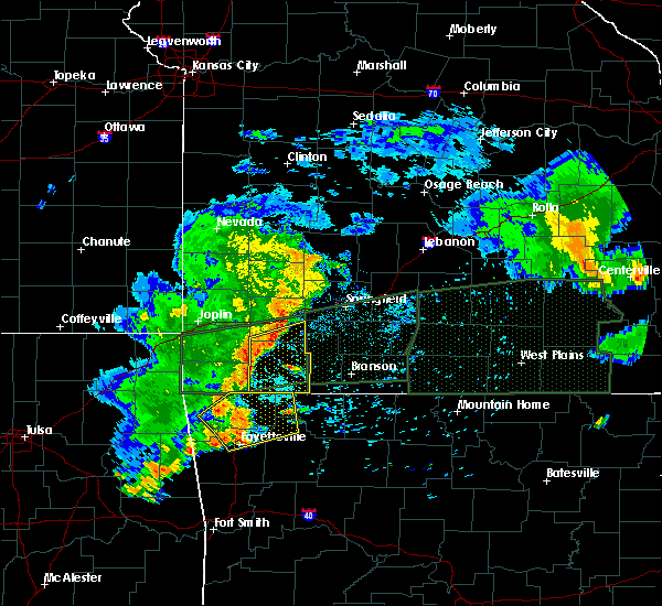 Radar Image for Severe Thunderstorms near Wheaton, MO at 7/9/2015 6:25 PM CDT
