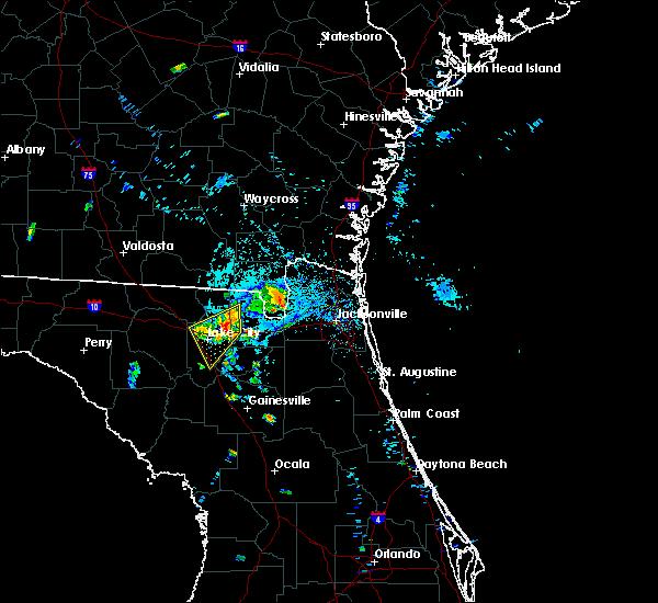Radar Image for Severe Thunderstorms near Lake City, FL at 7/9/2015 8:12 PM EDT
