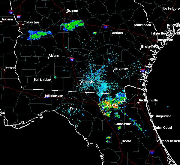 Radar Image for Severe Thunderstorms near Lake City, FL at 7/9/2015 8:28 PM EDT