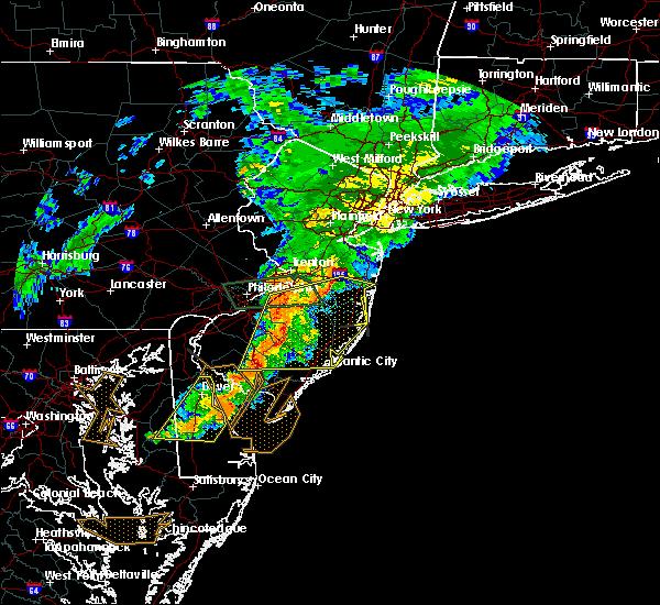 Radar Image for Severe Thunderstorms near Clayton, NJ at 7/9/2015 8:54 PM EDT