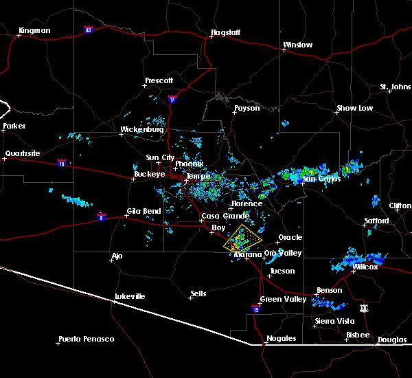 Radar Image for Severe Thunderstorms near Marana, AZ at 7/9/2015 6:29 PM MST