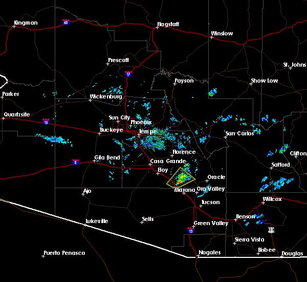 Radar Image for Severe Thunderstorms near Marana, AZ at 7/9/2015 6:48 PM MST