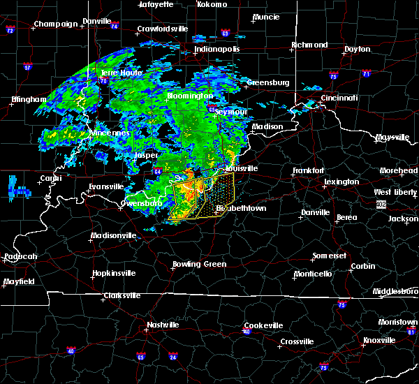 Radar Image for Severe Thunderstorms near West Point, KY at 7/10/2015 10:24 AM EDT