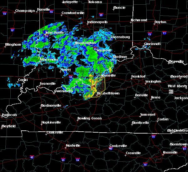 Radar Image for Severe Thunderstorms near West Point, KY at 7/10/2015 10:42 AM EDT