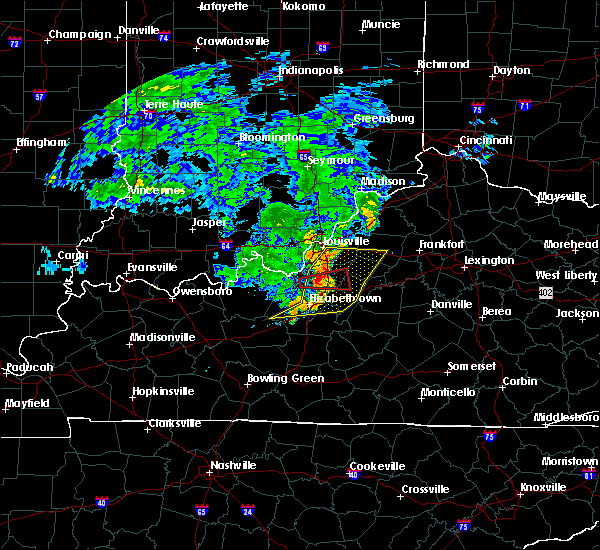 Radar Image for Severe Thunderstorms near Watterson Park, KY at 7/10/2015 10:55 AM EDT