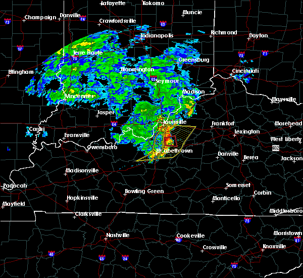 Radar Image for Severe Thunderstorms near Watterson Park, KY at 7/10/2015 11:06 AM EDT