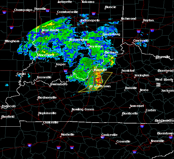Radar Image for Severe Thunderstorms near Bardstown, KY at 7/10/2015 11:11 AM EDT