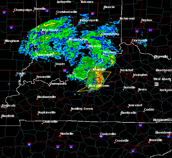 Radar Image for Severe Thunderstorms near Bardstown, KY at 7/10/2015 11:14 AM EDT
