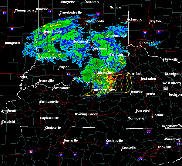 Radar Image for Severe Thunderstorms near Bardstown, KY at 7/10/2015 11:24 AM EDT
