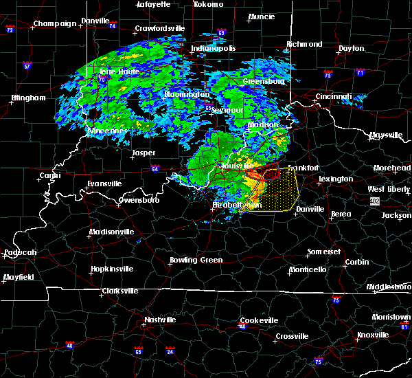 Radar Image for Severe Thunderstorms near Shelbyville, KY at 7/10/2015 11:38 AM EDT