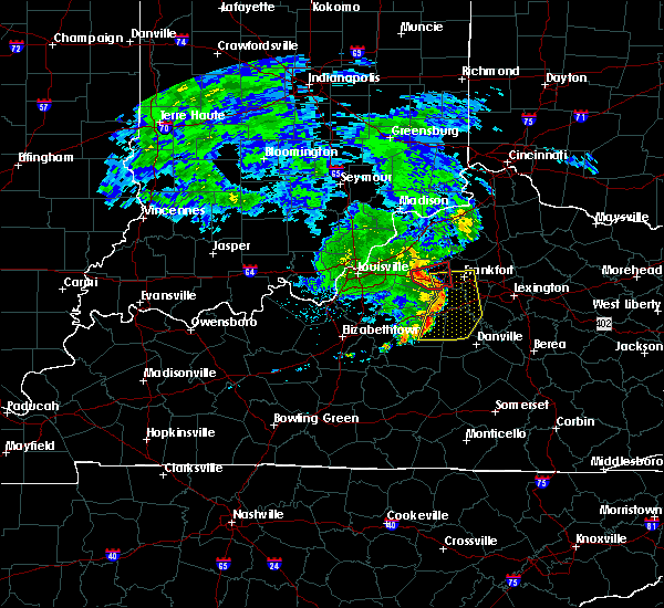 Radar Image for Severe Thunderstorms near Frankfort, KY at 7/10/2015 11:42 AM EDT