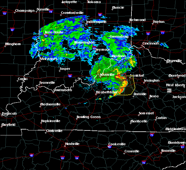 Radar Image for Severe Thunderstorms near Mackville, KY at 7/10/2015 11:44 AM EDT