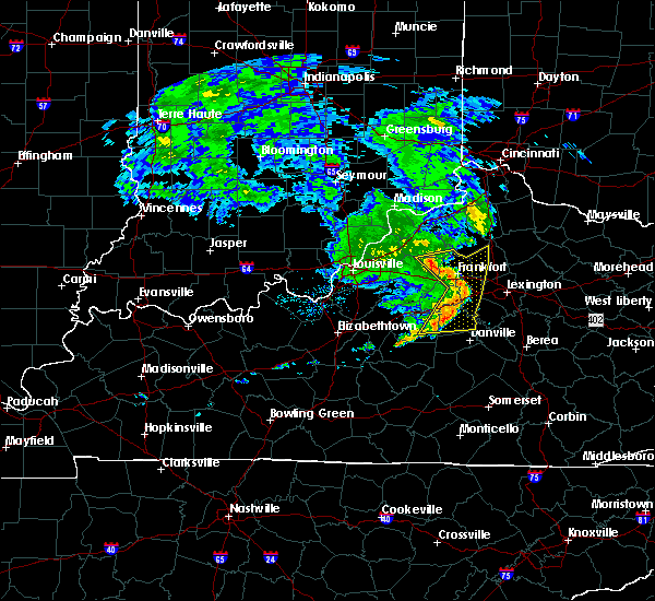 Radar Image for Severe Thunderstorms near Frankfort, KY at 7/10/2015 11:56 AM EDT