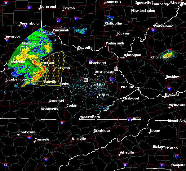 Radar Image for Severe Thunderstorms near Danville, KY at 7/10/2015 11:58 AM EDT