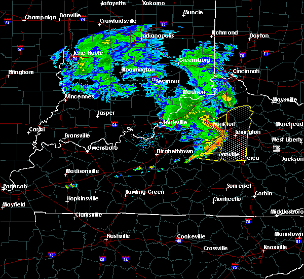 Radar Image for Severe Thunderstorms near Frankfort, KY at 7/10/2015 12:07 PM EDT