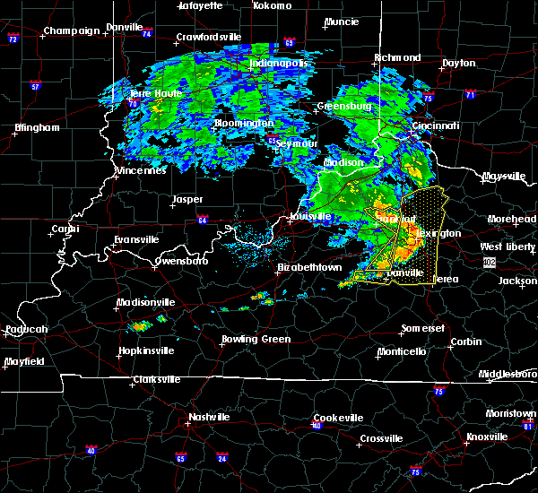 Radar Image for Severe Thunderstorms near Midway, KY at 7/10/2015 12:19 PM EDT