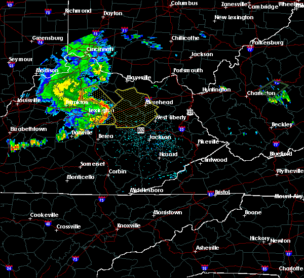 Radar Image for Severe Thunderstorms near Morehead, KY at 7/10/2015 12:50 PM EDT