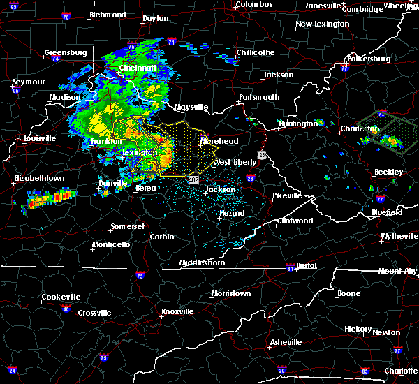 Radar Image for Severe Thunderstorms near Irvine, KY at 7/10/2015 1:04 PM EDT