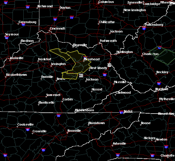 Radar Image for Severe Thunderstorms near Morehead, KY at 7/10/2015 1:20 PM EDT