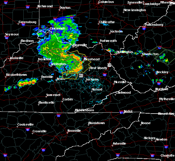 Radar Image for Severe Thunderstorms near Hazel Green, KY at 7/10/2015 1:23 PM EDT