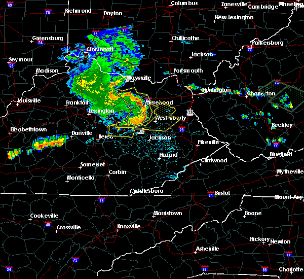 Radar Image for Severe Thunderstorms near Irvine, KY at 7/10/2015 1:31 PM EDT