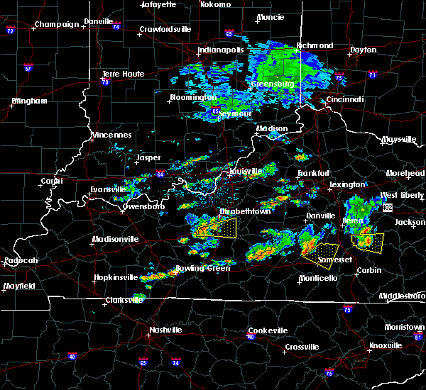 Radar Image for Severe Thunderstorms near Hodgenville, KY at 7/10/2015 3:23 PM EDT