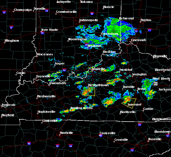 Radar Image for Severe Thunderstorms near Buffalo, KY at 7/10/2015 3:33 PM EDT