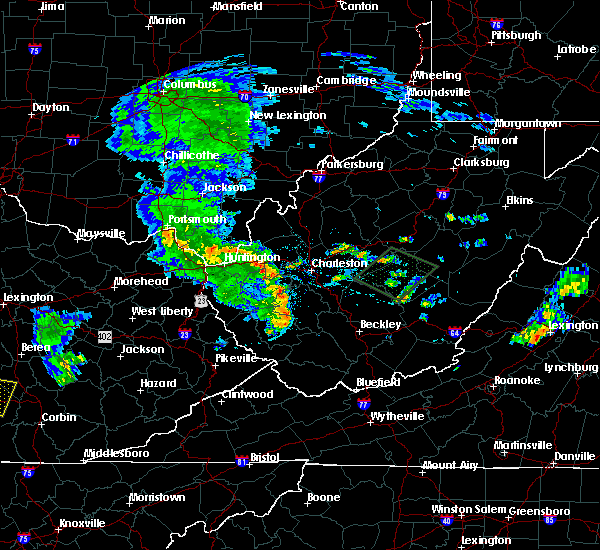 Radar Image for Severe Thunderstorms near East Bank, WV at 7/10/2015 3:36 PM EDT