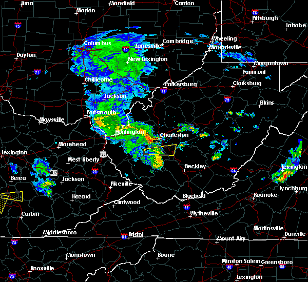 Radar Image for Severe Thunderstorms near East Bank, WV at 7/10/2015 3:55 PM EDT